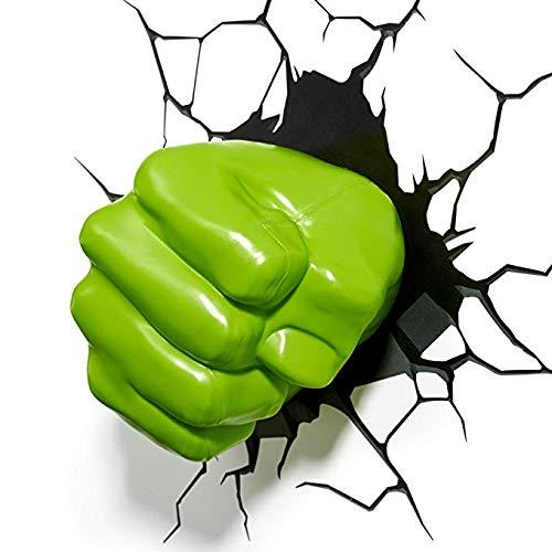 Cooler Kitchen Marvel 3D Wandleuchte Hulk Fist Avengers 4 Neuheit Wandleuchte