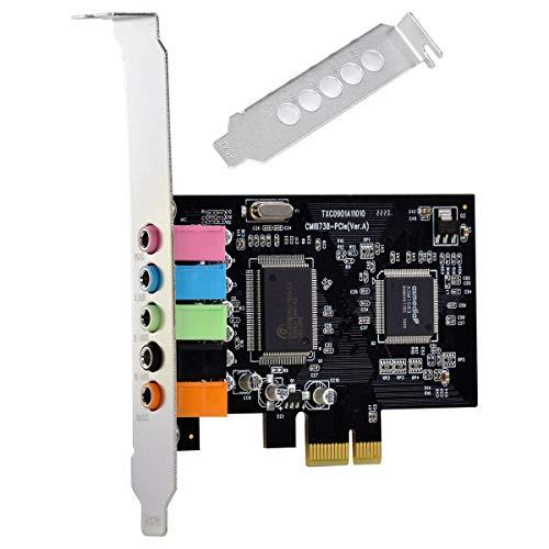 PLACA DE SOM PCI-EXPRESS 5.1 CANAIS LOW PROFILE - PS51-PCIE Vinik