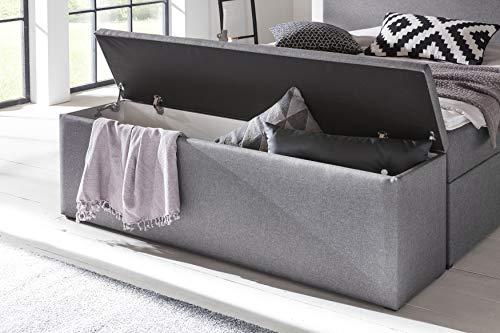 Furniture For Friends Möbelfreude® Bettbox Nelli Hellgrau | Aufbewahrungsbox für Boxspringbetten und Polsterbetten | Sitztruhe 160 x 40 x 51 cm - 2