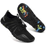 Mabove Chaussures Aquatique Homme Femme Chaussures de d'eau Chaussures de Plongée Surf Natation pour Piscine et Plage Bain Séchage Rapide,Noir 8080s,44 EU