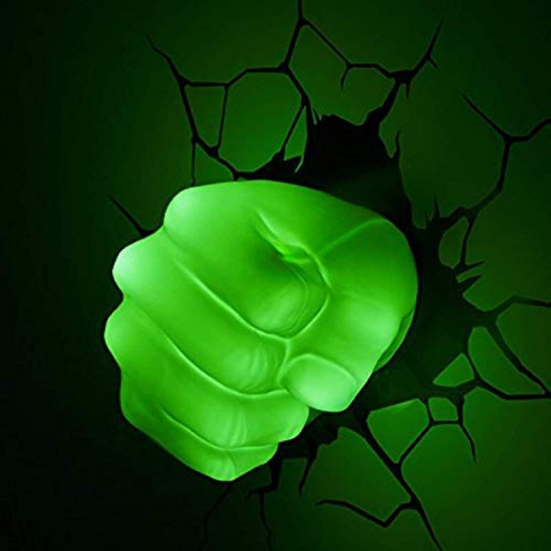 BLL Kinderzimmer dekorative Wandleuchte, Rcher Liga Hulk Faust, Crack Wandaufkleber LED-Leuchten