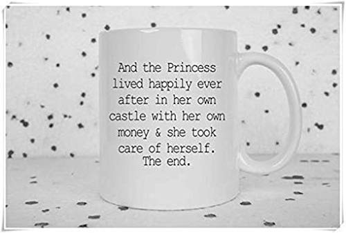 N\A Taza de Girl Power Taza Divertida Cuentos de Hadas Salve a la V Taza Ofensiva Feminista Solo y Orgulloso Don & rsquo; t Need A Man Taza de café Taza de café