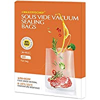 100-Count Creativechef 8 x 12 Inch Pre-Cut Food Sealer Bags