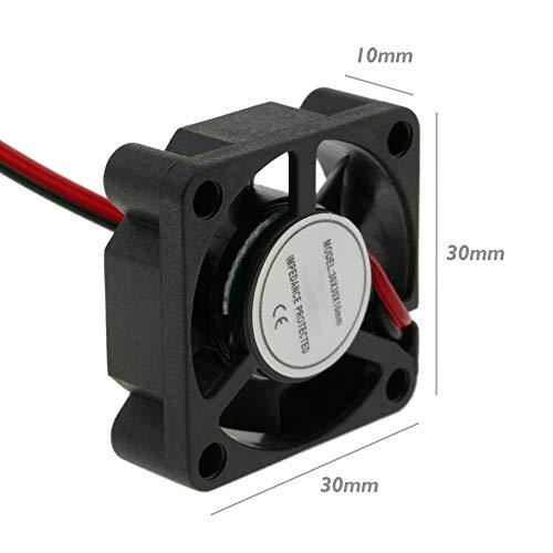 BeMatik - Ventilador de chasis 30x30x10 mm de 12 VDC para Caja de Ordenador (VL010)