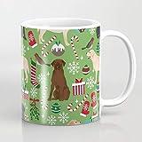 Queen54ferna Labrador Retrievers Natale festa per gli amanti del cane nella vostra vita cane razze arte personalizzata tazza da caffè divertente novità ceramica bianco