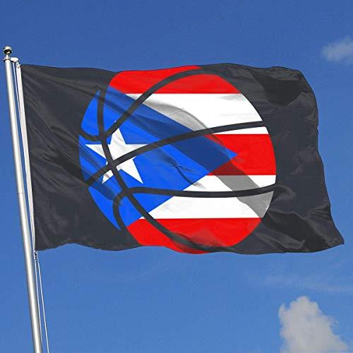 Xhayo Banderas Puerto Rico Flag Basketball Banner Flag Demonstration Flag Outdoor Garden Flag 3'X5' House Banner