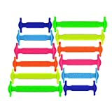 LattoGe No Tie Silicone Shoelaces Tieless Elastic Lace Lock Bands for Kids, Adults Athletic Running...