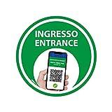 Adesivo Bollino Verde - Green Pass - Certificazione Verde -...