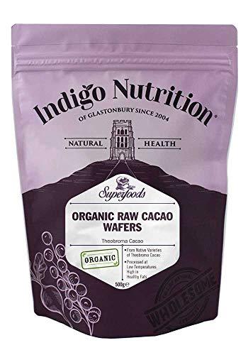 Indigo Herbs Manteca de Cacao en Obleas Orgánico Crudo 500g