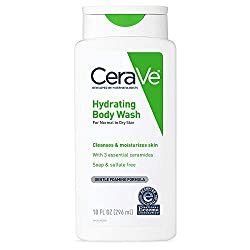 CeraVe Hydrating Body Wash 10 oz for Daily Body Washing, Dry to Normal Skin