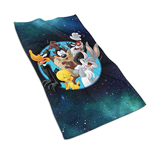 Yuanmeiju Badetuch Bugs Bunny & Taz Tweety Daffy Sylvester The Cat Soft Towel Quick Dry Bath Towel Unisex Lightweight Beach Towel One Size