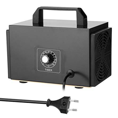 KKmoon Purificador de filtro de aire,generador de ozono portátil con interruptor de temporización,Ozonizador,Ozonizador para coche casero Formaldehído