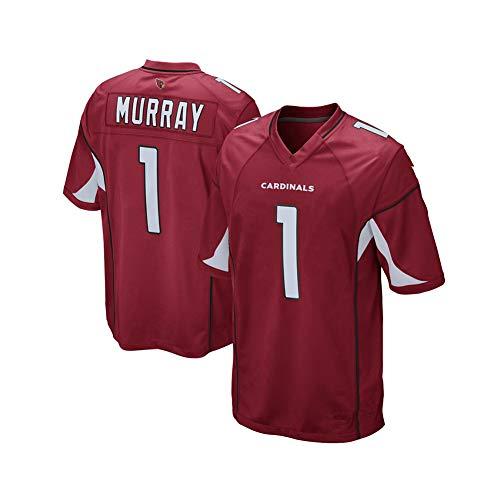 Rugby-Trikot Kyler Murray # 1 Arizona Cardinals American Football-Trikot, Unisex-Sport Kurzarm-Sweatshirt Fitness Atmungsaktive Stickerei Wiederholbare Reinigung red-M(175cm~180cm)