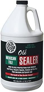 Glaze 'N Seal 163 Clear Olé Mexican Tile Sealer Gallon, 128 oz. Plastic Bottle (Pack of 1)