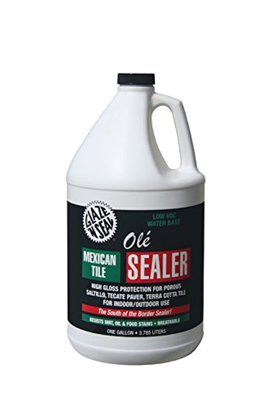 Glaze 'N Seal 163 Clear Olé Mexican Tile Sealer Gallon, 128 oz. Plastic Bottle (Pack of 1)