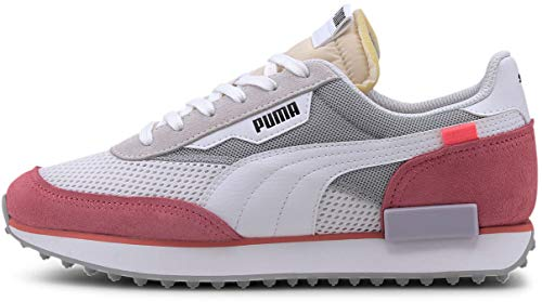 Puma - Womens Rider Stream On Shoes, Size: 6 B(M) US, Color: Puma White/Bubblegum