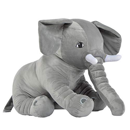 Pink Papaya Mega Riesen XXL Kuschel-Elefant Manni, 75cm Plüsch-Elefant sitzend, Stoff-Tier, XXL Plüsch-Kuscheltier Toys zum Liebhaben