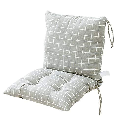 Cojines de Asiento, Jardín respaldo alto silla del asiento del cojín - al aire libre Cojines de dispersión con los lazos de seguridad - 40cm jardín silla del asiento del cojín for muebles de r