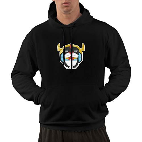 Vasopcegrok Voltron Men's Hoodie Long Sleeve Hedging Hooded Sweater Casual Sports Autumn Winter Sweatshirt Black