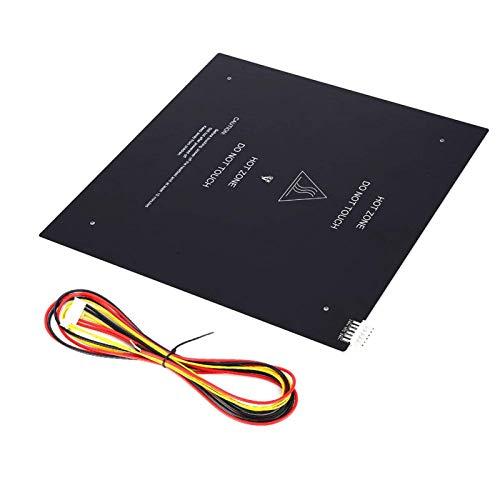 QOHFLD Accesorios de Impresora Plataforma de Impresora 3D Placa de Vidrio Templado de Cama Caliente 310x310mm Sustrato de Aluminio 24V 220W para Impresora 3D para la Serie MKS Gen