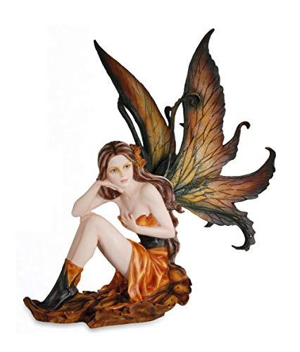 Les Alpes Fata TOOLA Autunno, 38cm, Collezione Fairy Land - Statuetta Figura Dipinta a Mano - Scopri la magia - 042 452