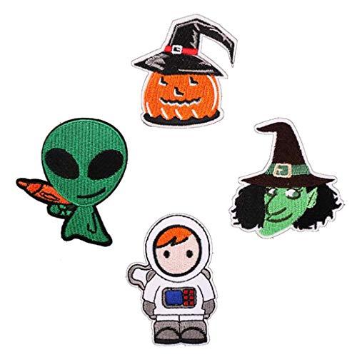 WEDFTGF - Parche bordado para planchar de Halloween