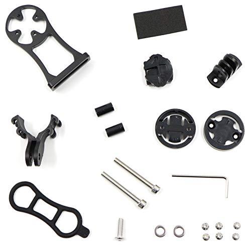 Soporte de bicicleta GPS para de bicicleta, soporte para manillar de bicicleta, soporte de código, soporte multifuncional alargado para bicicleta, soporte para cámara deportiva Go Pro Garmin Edge