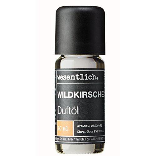 Wesentlich. Huile parfumée à la cerise – Huile aromatique pour lampe aromatique et diffuseur – Parfum d'ambiance de qualité supérieure (10 ml)