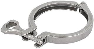 eDealMax 91 millimetri ghiera in acciaio inossidabile 304 Quick Release sanitario Tri-Clamp tubo clip