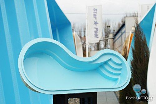 Gfk Schwimmbecken LUNA Swimming-Pool, Garten-Pool MINIATUR! GFK Pool Mini