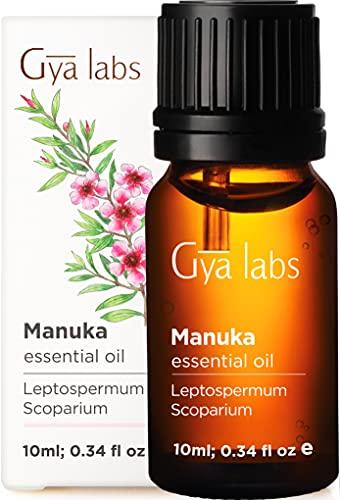 Gya Labs Huile Essentielle de Manuka pour Ongles Sains - Naturel Huile de Manuka pour Soin de la Peau - 100 Pur Huile Essentielle pour Diffuseur Aromathérapie - 10ml