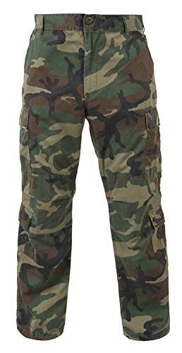 Vintage Paratrooper Fatigues - Woodland Camo - X-Large (39-43)