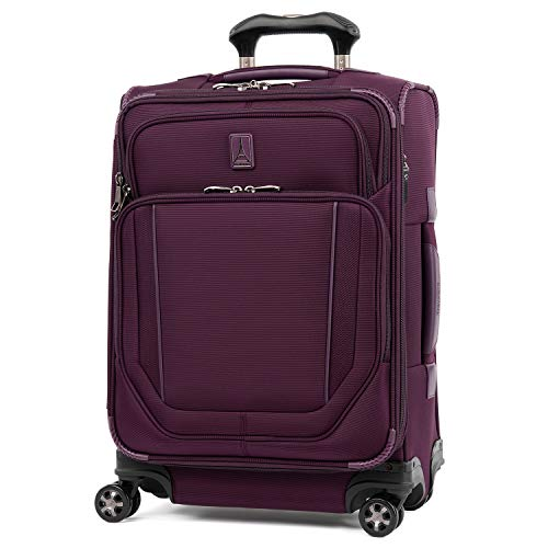 Travelpro Crew Versapack-Softside Expandable Spinner Wheel Luggage, perfect Plum, Carry-On 21-Inch