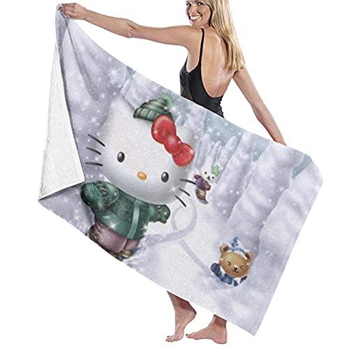 XBBAO - Toalla de baño (80 x 130 cm), diseño de Hello Cartoon Kitty