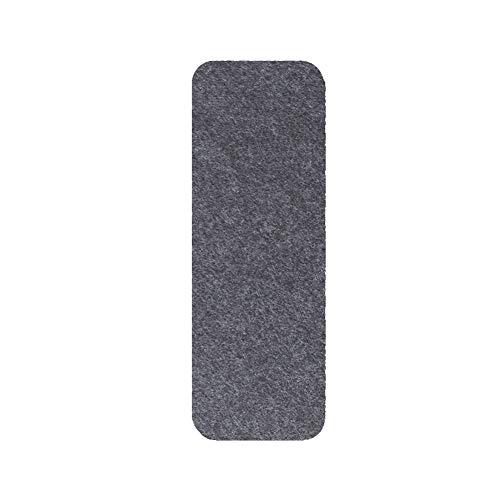 Sunoney 10pcs Stair Tread Carpet Mat Self Adhesive Non-Slip Washable Step Staircase Mat Pad Grigio Scuro.