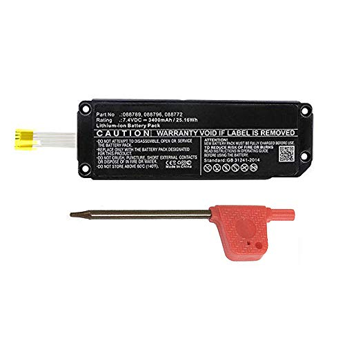 MPF Products 2200mAh 088789, 088796, 088772 Battery Replacement Compatible with Bose Soundlink Mini 2, Soundlink Mini II Bluetooth Speaker