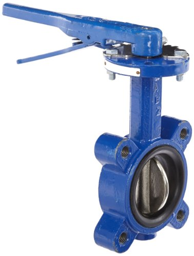 """Dixon BFVL300 Ductile Iron Threaded Lug Style Butterfly Valve with Aluminum Bronze Disc and Buna-N liner, 3"""" Size, 200 psi Pressure"""