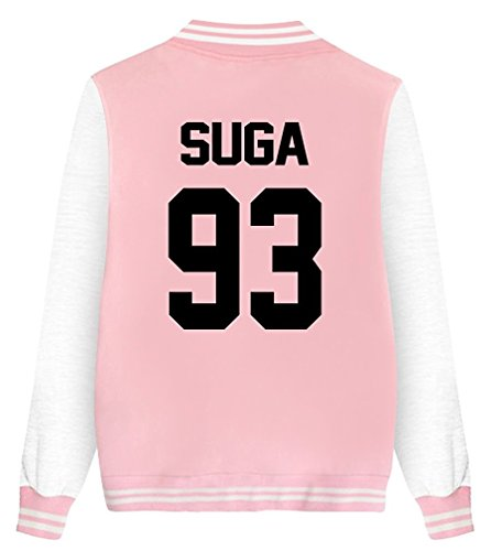 ShallGood Damen Jacke Blouson Tops Fans Sweatshirt Sweatjacke Baseball Uniform Langarm Stehkragen Tops Coat Bomberjacke Bikerjacke...