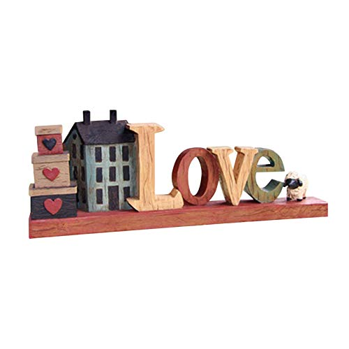 Ishine Signo de amor familiar para decoración del hogar, letras de bloque...