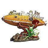 JNXY Fish Tank Aquarium Accessories Adornos Resina Naufragio Submarino Aquarium Landscaping Fish Tank Decoration Crafts