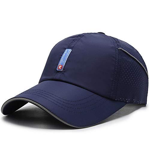 Clape Schnell-trocknend Baseball Sonnen Sport Cap Lauf Sonnenhut UPF50 + Papa Hut Ultraleichte für Männer Frauen (CP18-Navy Blue)