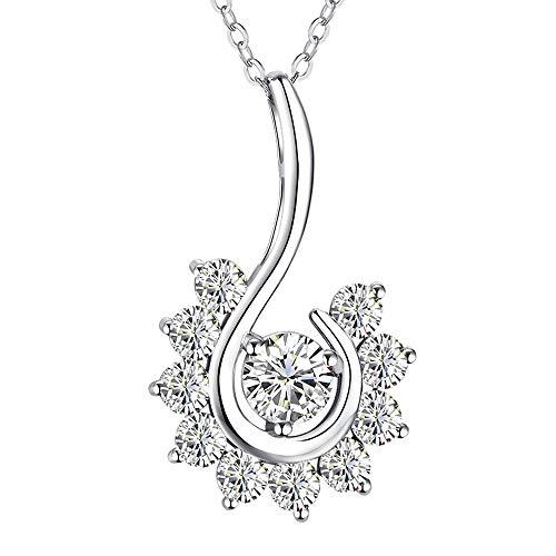 SHECOOL Collar de Mujer 925 Collares de Mujer,Joyas Regalos para Esposa, Mamá, Novia, Cumpleaños Navidad Aniversario día de San Valentín Regalo