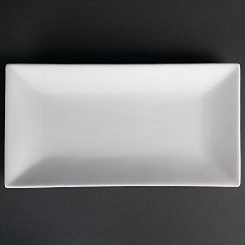 Olympia de service Plateau Rectangulaire 380 x 200 mm Blanc plaque Traiteur dîner