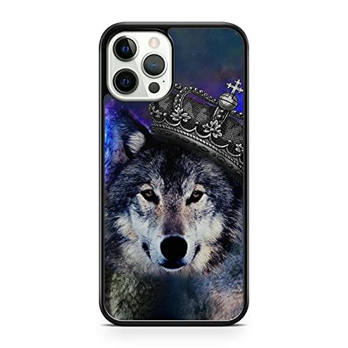 Crowned - Funda para teléfono inteligente con diseño de animales de lobo (modelo de teléfono: compatible con Huawei P8 Lite (2017)