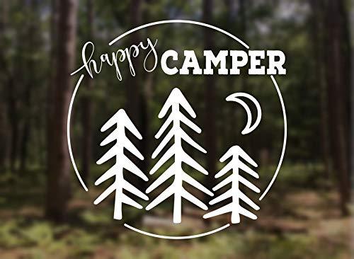 Autocollant en vinyle Happy Camper
