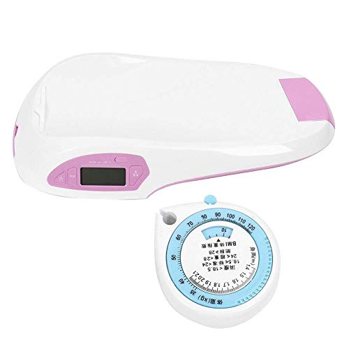 BANANAJOY Electronic Scales, Escala electrónica, Báscula de múltiples Funciones de Smart Scale Escala de bebé, bebés electrónicos Digitales Escalas de Peso Altura Escala de Medida precisa for bebés