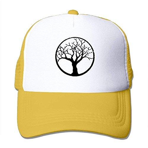 Two Tone Trucker Hat Bonsai Tree in Enso Circle Adjustable Mesh Cap