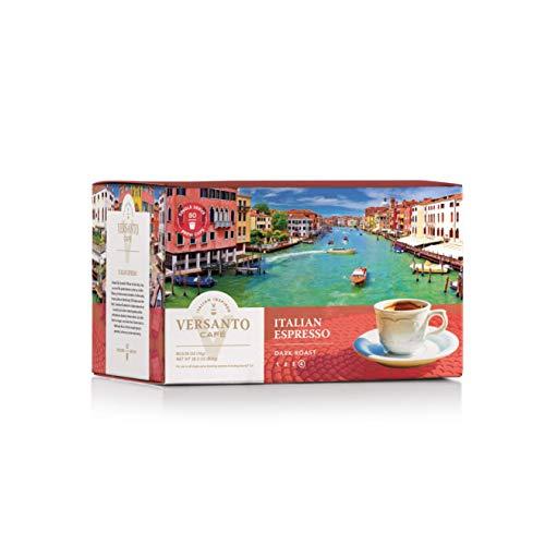 Versanto Café Coffee Single Serve Coffee Cups, Fits Keurig K Cup Brewers, Italian Espresso, 80 Coffee Pods