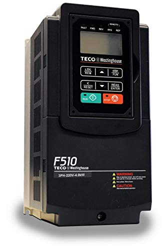 Teco Variable Frequency Drive, 15 HP, 460 Volts 3 Phase Input, 460 Volts 3 Phase Output, NEMA 1, F510-4015-C3-U, Fan & Pump Duty VFD Inverter for AC motor control