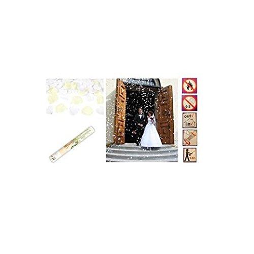 les colis noirs lcn Lot 5 Canon à CONFETTIS Pétale Crème et Coeur Blanc Mariage 39cm - 5/8m - 087